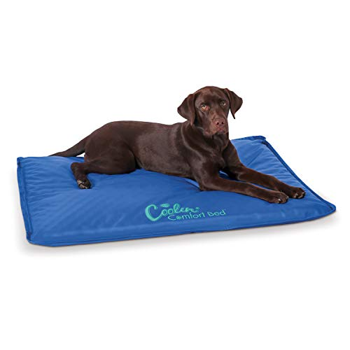 K&H Pet Products Coolin' Comfort Bed – Ultra Thick Cooling Orthopedic Pet Bed, Large (32″ x 44″)