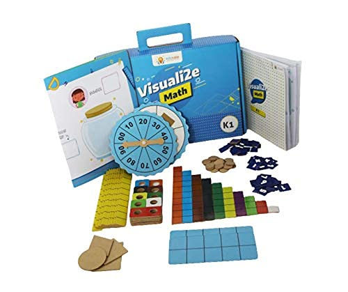 sparklebox math learning kit for grade k1   age 3-6   14 activities to learn concepts in math   colorful tools to learn in fun way.- Multi color