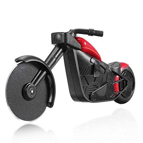 QHLJX Motorrad Pizza Cutter, Edelstahl Pizza Rad Cutter Messer Fahrrad Roller Roller Pizza Chopper Slicer Peel Messer Küchenwerkzeug, Leicht zu Reinigen Tragbar