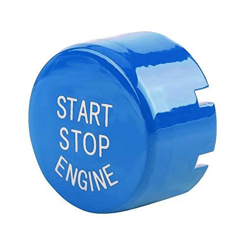 KSTE Auto-Motor-One-Button-Startknopf Compatible with B-M-W F30 G/F Disk-Bottom mit Start & Stop (blau)