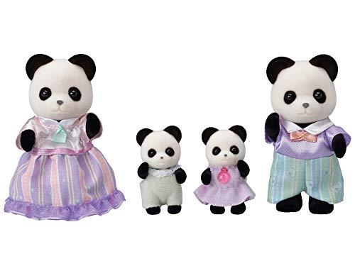 Sylvanian Families - La Famille Panda - 5529 - Famille 4 Figurines - Mini Poupées