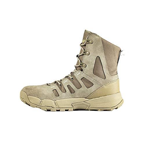 GZSZ Desert Combat Boots Mannelijke zomer laarzen hoge tactische laarzen outdoor mannen schoenen woestijn -Slijtvaste zool Beige-EU39