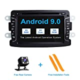 ZLTOOPA Android 9.0 Autoradio für Rentult Duster Dacia Logan Sandero Xray 2 Autoradio DVD-Player GPS mit vollem RCA-Ausgang WiFi OBD SWC
