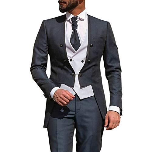 Outwear Traje italiano para hombre de negocios novio hombre de doble botonadura Blazer Slim Fit Esmoquin Terno Masculino Traje Homme Mariag