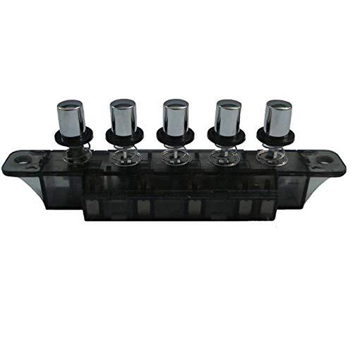 Stronrive Drucktaster Klaviertyp Schlüsselschalter für Reichweite Haube de, 5 Drucktaster, 4A 250V