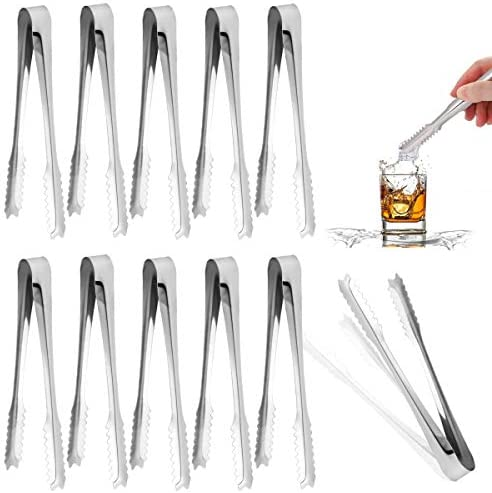 Twdrer 20 Pack 6 Inch Small Mini Stainless Steel Serving Tongs Appetizers Tongs Sugar Tongs product image
