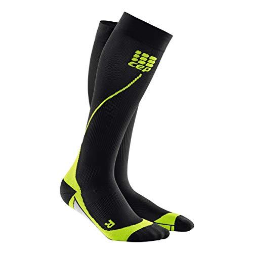 CEP Herren Sport-Kompressionsstrümpfe hohe Socken für Performance, Herren, schwarz/grün, V