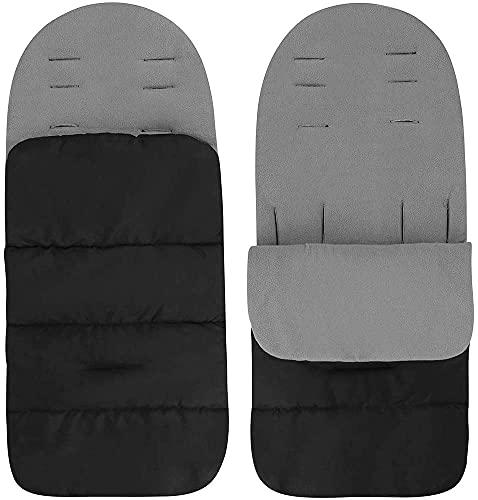 Bolsa de Cochecito Universal - Saco de Silla Universal para Cochecito para Actividades al Aire Libre Prueba de Viento prueba de Frío Desmontable (Negro)