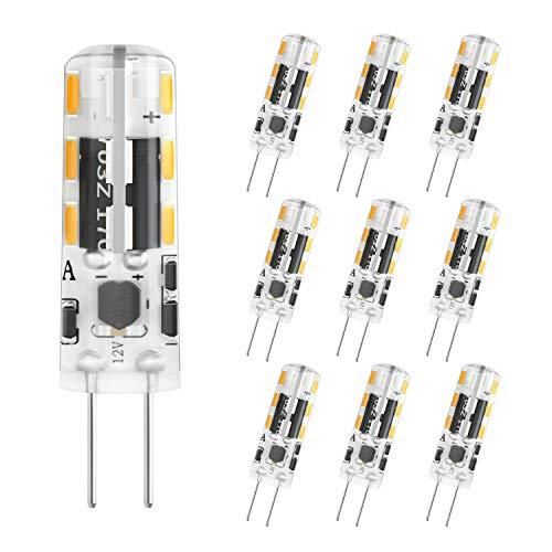 DiCUNO G4 LED-lamp 1.2W, AC/DC 12V met 120 Lumen, SMD, 24 * 3014, Vervanging voor 10W halogeenlampen, Warm wit 3000K, Niet dimbaar, Geen flikkering, 10 Stuks