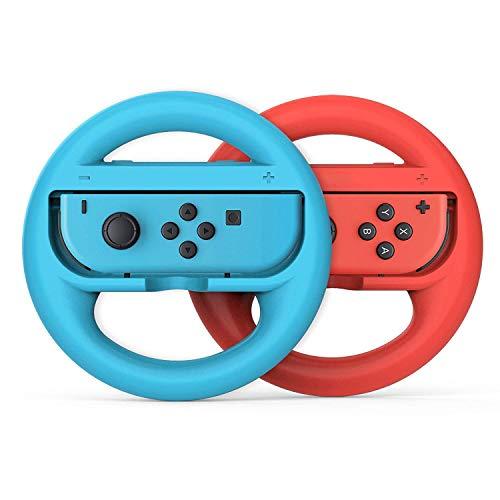 Lenkrad für die Mariokart Nintendo Switch Joy-Con Controller - Blau+Rot (2 Stück)
