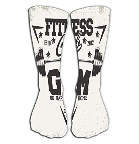 hgdfhfgd Outdoor Sports Men Women High Socks Stocking print design vintage t graphic grange stamp fitness typography emblem gym sports logo creative Tile length 19.7