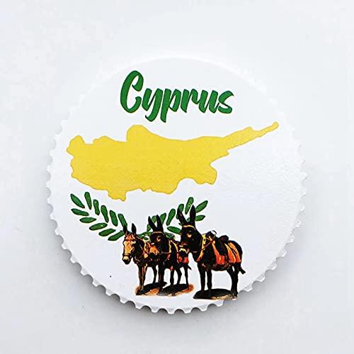 Weekino Flagge Zypern Kühlschrankmagnet 3D Polyresin Touristische Stadtreise City Souvenir Collection Geschenk Starker Kühlschrank Aufkleber