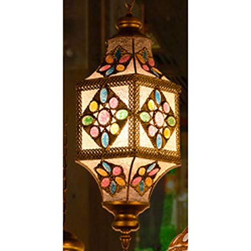 LILIS Chandelier Southeast Asia Bohemian Thai Creative Chandelier Man Coffee Bar Restaurant Card Block Internet Cafe Corridor Chandelier (Color : E, Size : 1W-10W)