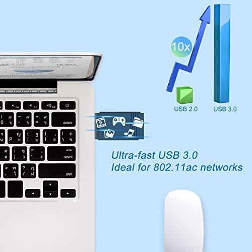 Lemorele WiFi Adapter 1200Mbit/s(5.8G/867Mbit/s + 2.4G/300Mbit/s) mit Bluetooth 5.0, unterstützt MU-MIMO, 5dBi WiFi Antenne, für Windows 10/8.1/8/7/XP, Mac OS, Xbox/PS4/NS Controller