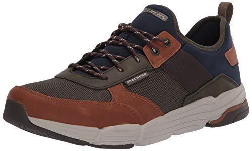 Skechers Metco-Parken, Zapatillas para Hombre, Marrón (Brown Olive Mesh BR OL), 41.5 EU