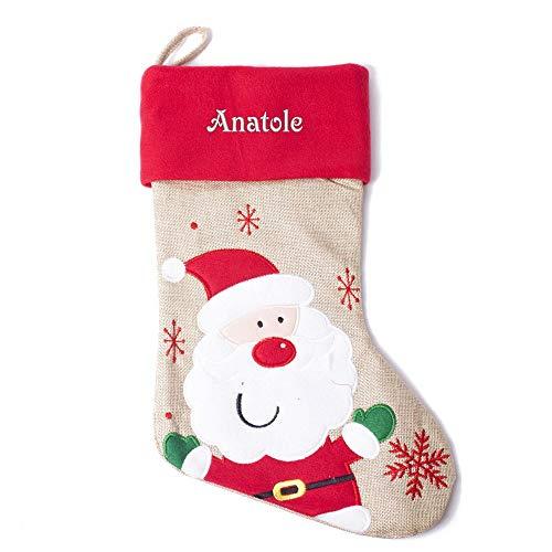 Geschenkegarten Personalisierter Nikolausstiefel für Kinder Weihnachtsmann