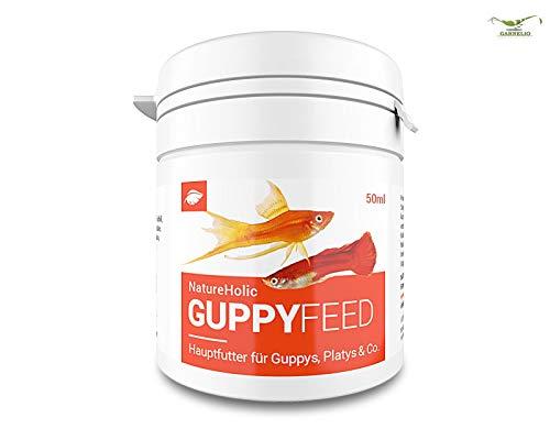 NatureHolic Guppyfeed - Guppyfutter - Futter für Fische im Aquarium – Guppy - 50ml