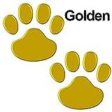 2pcs / Set engomada del coche Oso fresco del gato del perro de animal Diseño 3D de la pata pie imprime la huella de la etiqueta etiquetas engomadas del coche de plata Rojo Negro Oro