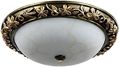Omped Bedroom Ceiling Light European Round and Warm Romantic Balcony Aisle,48Cm * 13Cm
