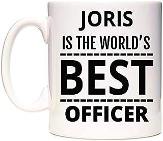 JORIS Is The World's BEST Officer Taza por WeDoMugs®