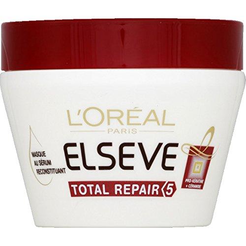 L'Oréal Paris Elsève - Masque Total Repair 5 - Le Pot de 300ml - (pour la quantité Plus Que 1 Nous Vous remboursons Le Port supplémentaire)