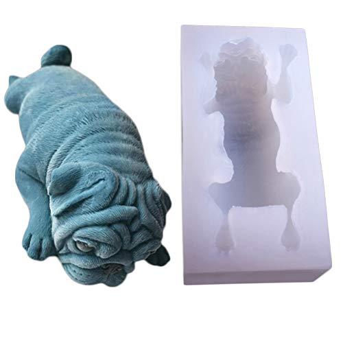 Supvox 3D Mops Hund Form Silikon Schimmel, Mousse Kuchen Schimmel, Polymer Clay Schimmel, Handwerk, Harz Epoxy, DIY Mode Dekoration Tools Fondant Schimmel, Seife Schimmel, Kerze Schimmel