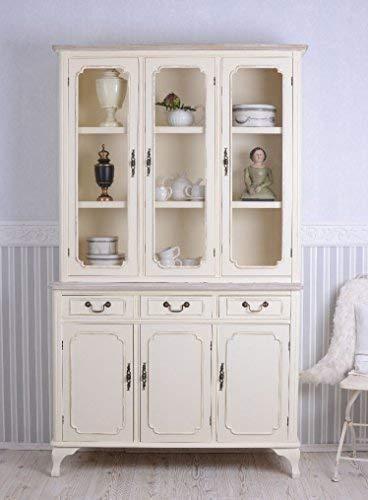 Gustavianischer Buffetschrank Küchenschrank altweiß Schweden Geschirrschrank hmb145 Palazzo Exklusiv