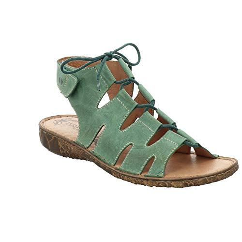Josef Seibel Damen Sandalen Rosalie 39, Frauen Riemchensandalen, römer-Sandale Sandalette Gladiatoren-Sandale sommerschuh Lady,Tanne,36 EU / 3 UK
