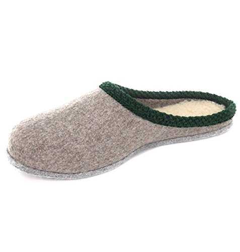 WEROR – Herren & Damen – Erzgebirgische Filzpantoffeln – Hausschuhe Filzschuhe Pantoffeln Filzhausschuhe - WEROR-103.1 (41 EU, Grau)