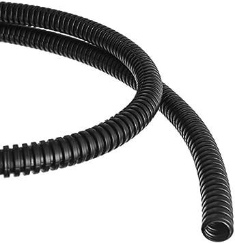 1m Wellrohr Schutzrohr Kabelschutz geschlitzt 19mm schwarz