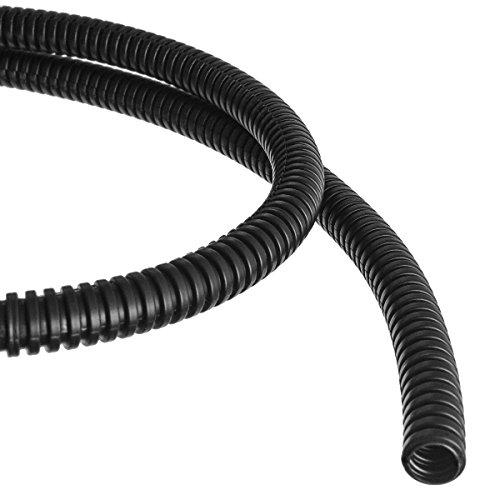 Wellrohr mit Schlitz Schutzrohr Kabelschutz Schutzschlauch geschlitzt Meterware (Außendurchmesser: 12,0mm)