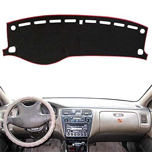 SAXTZDS Alfombrilla Protectora de Parasol Anti-UV para salpicadero, Apto para Honda Accord 6th 1998 1999 2000-2002