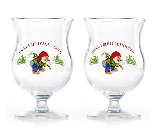 Juego de 2 vasos de cerveza belga