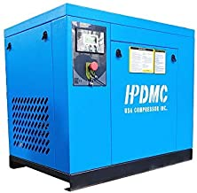 HPDMC 10HP Rotary Screw Air Compressor Spin-on Oil Separator 39CFM@125psi 208-230Volt, 3- Phase Skid Commercial Air Compressed System