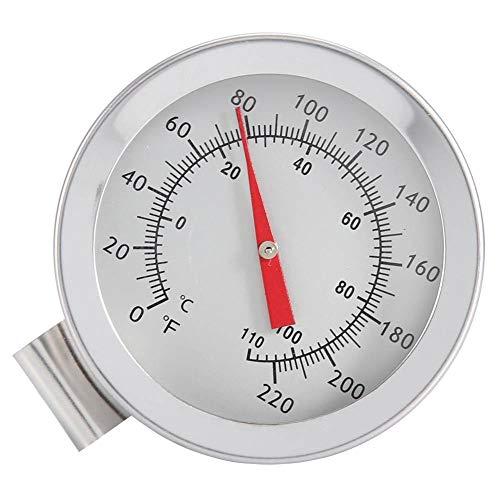 EECOO Bierthermometer, Wasserkocher Clip auf Zifferblatt Thermometer Home Brew Weinbierthermometer, Weiß