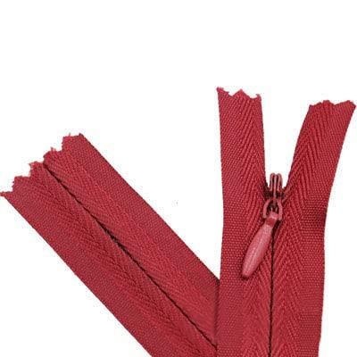 10 unids/bolsa 15 CM 28 CM 35 CM 45 CM 55 CM 60 CM Cremalleras largas invisibles DIY Cremallera de bobina de nailon para coser accesorios de ropa-Rojo vino 163, la longitud total es de 65 cm