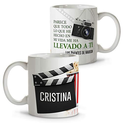 LolaPix Taza Cine. Regalos con Frases de Cine. Tazas Personalizadas con Nombre. San Valentín, Parejas y Enamorados. Los Puentes de Madison