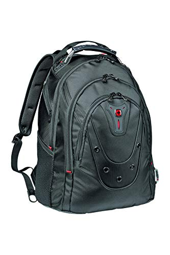 Wenger 605500 Ibex 16' Backpack Slim Made From Ballistic Polyester In Black {26 Litres}