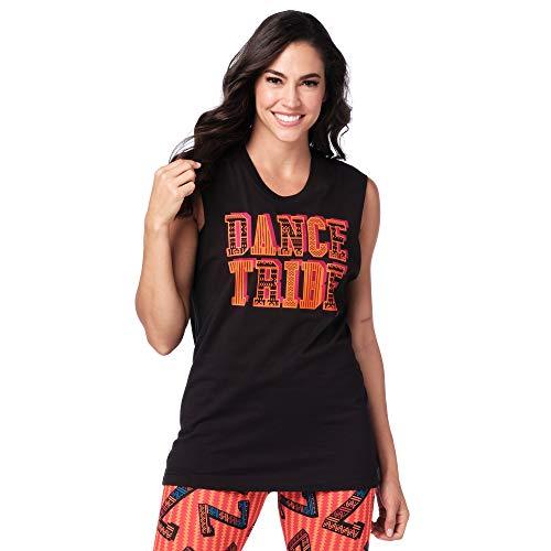 Zumba Fitness Workout Tank Top with Fashion Print, Unisex Adulto, Bold Black 4, XL/XXL