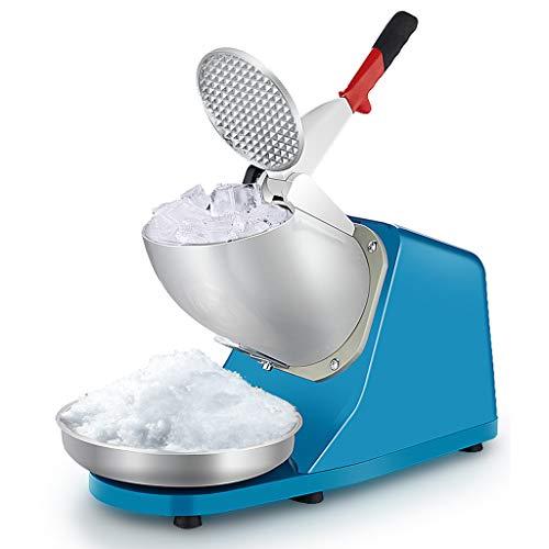 Lxn Tritaghiaccio elettrico, Macchina per il ghiaccio, Macchina per cono della neve, Macchina per il ghiaccio truccato, 176 Ibs/ora per uso domestico e commerciale, Blu