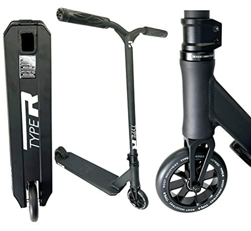 Root Industries Patinete de acrobacias R-Type H = 82,5 mm para niños + pegatina Fantic26 (negro)