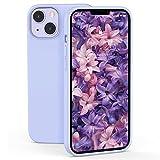 ZELAXY Funda de Silicona Compatible con iPhone 13 2021 Carcasa Rigida Antigolpes con Interior de Microfibra Fina Suave y Fácil Agarre –púrpura