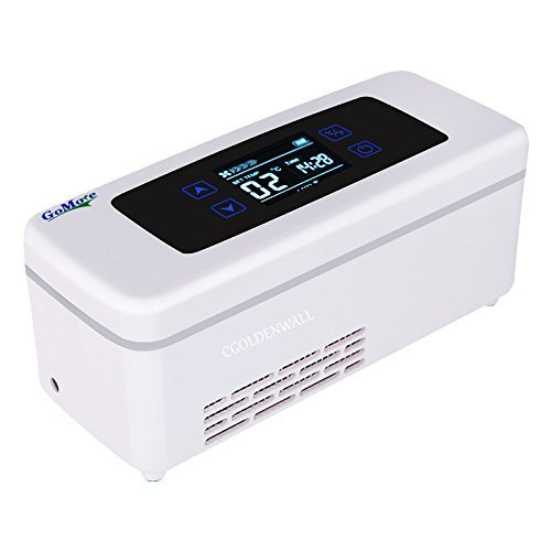 CGOLDENWALL15StundenTragbare Insulin Kühlbox Elektrische Intelligente Mini-Kühlschrank für Medikamente Kühler Drogenreefer Kühltasche mit 2–8 ℃ Thermostat mit USB für Reise Auto Flugzeug