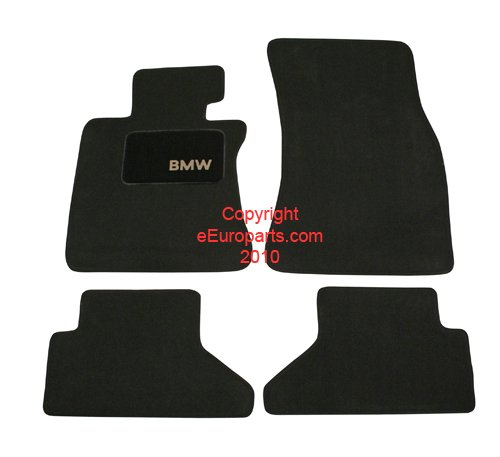 """BMW Genuine Black Floor Mats for E64 - 6 SERIES ALL MODELS CONVERTIBLE (2002 - 2007), set of Four"""