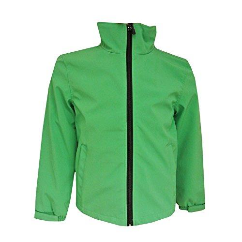 Outburst - Mädchen und Jungen Softshelljacke Regenjacke wasserabweisend und winddicht, grün, Größe 152