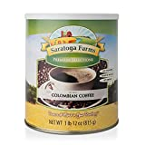 Saratoga Farms Instant Colombian Coffee, 1 Emergency Food Storage, 163 Servings with 20-30 Year Shelf-Life in #10 Can (Save More with 1,2,3,4, or 6 Pack)