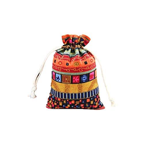 HOMIXES 50pcs Estilo étnico Bolsas de Arpillera con Cordón Bolsa de Regalo Algodón Reutilizable Bolsas Joyería Bolsas de Monedas para Candy Fiesta de Bodas Favores de San Valentín