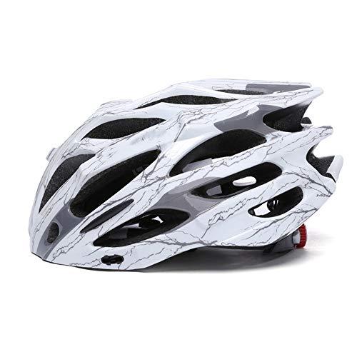GSHIYA Casco da Bicicletta Specialized, Regolabile Mountain & Strada del Casco Ciclo per Super Light Uomini Donne di età Casco della Bici,E,M