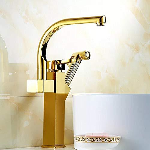 Fregadero grifos de lavabo grifo Baño Cobre Válvula de mezcla de grifo...