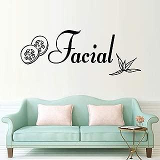 Gabriel Bloor Skin Care Wall Sticker Body Massage Vinyl Wall Decal Spa Sign Facials Wall Window Mural Beauty Salon Decor Facial Mural 57 22cm